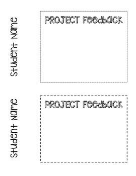 Student Feedback Sheets