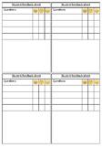 Student Feedback sheet for Teachers