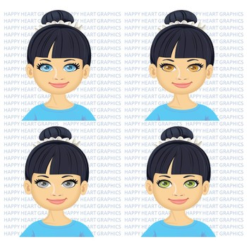 Student / Female / Girl / Asian / Clipart – Happy Heart Graphics