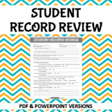 Student File Review Form