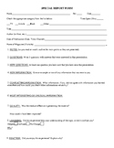 Student Fillable research report
