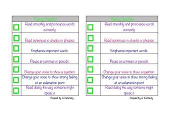 Student Fluency Checklist