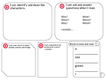 """Student Focus Board for """"Sam"""" from Scott Foresman's Reading Street"""