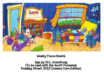 """Student Focus Board for """"Sam"""" from Scott Foresman's Readin"""