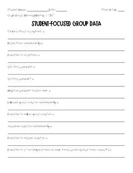 Student-Focused Data Sheet