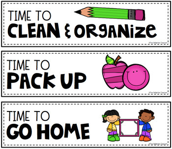 Student-Focused Schedule Cards {EDITABLE}