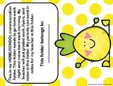Student Folder Cover for Home/School Communication