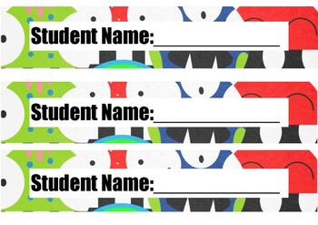 Student Folder Labels