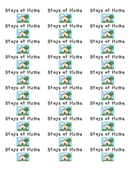 Student Folder Labels- Stays at Home & Return to School