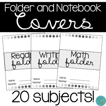 Student Folder and Notebook Covers