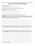 Student Form for Teacher Recommendation Letter and General Tips
