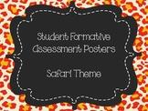 Student Formative Assessment Posters-Safari Theme