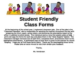 Student Friendly Class Forms