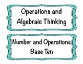 Student Friendly Common Core Math I Can Statements Grade 4