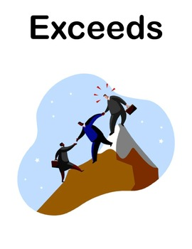 Student Friendly Common Core State Standards Progress Posters Mountain Climbers