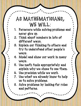 Student Friendly Common Core State Standards for Mathemati
