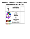 Student Friendly Comprehension Rubric