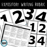 Student-Friendly Expository Writing Rubric & Student Scoring Cards