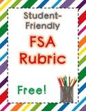 Student-Friendly FSA Argumentative Rubric