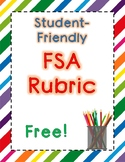 Student Friendly FSA Argumentative Rubric