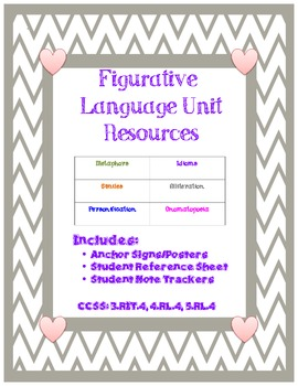 Student Friendly Figurative Language Resources Aligned with CCSS