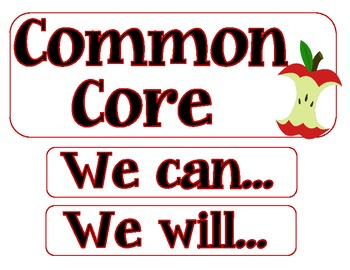 Student Friendly First Grade Common Core Display Cards and Checklist