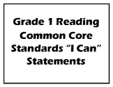 """Student Friendly Grade 1 ELA Common Core Standard """"I can..."""" Posters"""