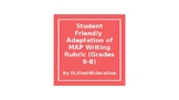 Student Friendly MAP Rubric for 6-8