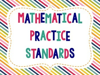 """""""Student-Friendly"""" Mathematical Practice Standards Posters - Rainbow Diagonal"""