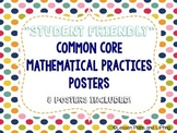 """""""Student-Friendly"""" Mathematical Practice Standards Posters - Rainbow Polka Dots"""