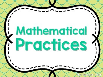 Student Friendly Mathematical Practices Posters {All Grades}