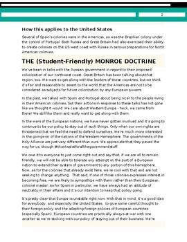 Student-Friendly Monroe Doctrine