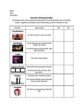 Student-Friendly Narrative Writing Rubric