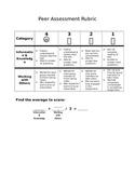 Student Friendly Peer Assessment Rubric