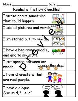 Student Child Friendly Picture Writing Editing Checklist TC Teachers College