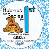Student Friendly Scale & Rubric for First Grade (Common Core Aligned) {BUNDLE}
