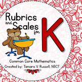 Student Friendly Scale & Rubric for Kindergarten Math (Com