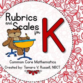 Student Friendly Scale & Rubric for Kindergarten Math (Com