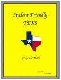 "Student Friendly TEKS ""I CAN"""