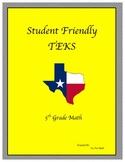 "Student Friendly TEKS ""I CAN"""