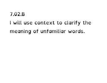 Student Friendly TEKS / I Will Statements - 7th grade ELAR (dyslexia font)