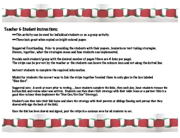 Student  Friendly Test Taking Strategies Paper Chain Activity