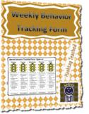Student Friendly Weekly Behavior Tracker Form