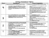 Student- Friendly Writing Assessment Rubric