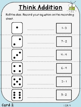 Student Game-Think Addition Spin (First Grade, 1.OA.4)