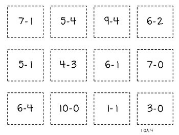 Student Game-Think Addition Pick (First Grade, 1.OA.4)