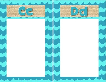 Student Generated Alphabet Template English
