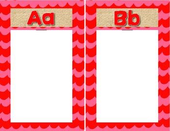 Student Generated Alphabet Template Spanish