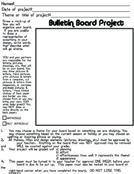 Student Generated Bulletin Board Group Assignment