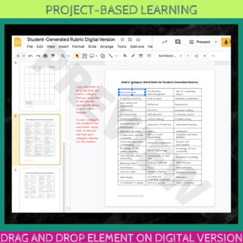 Student Generated Project Rubric: Project-Based Learning
